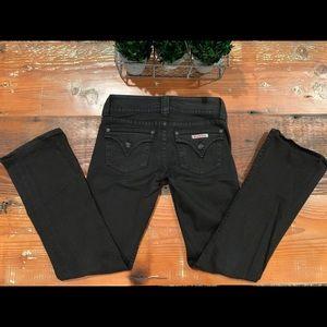 HUDSON Signature Bootcut Flap Pocket BLACK Jeans